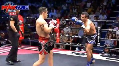 Vídeo: Veja o primeiro assalto da luta do 'Abusa' no MAX Muay Thai
