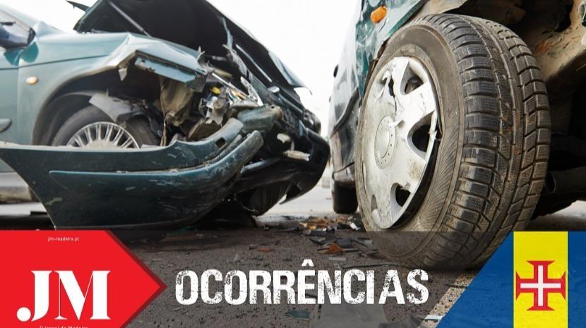Choque traseiro na origem do acidente ocorrido esta tarde em Santa Cruz