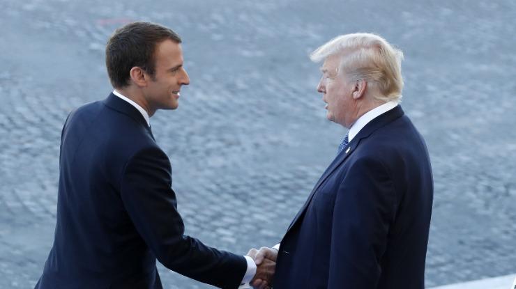 "Macron diz que ""nada separará nunca"" a França e os Estados Unidos"