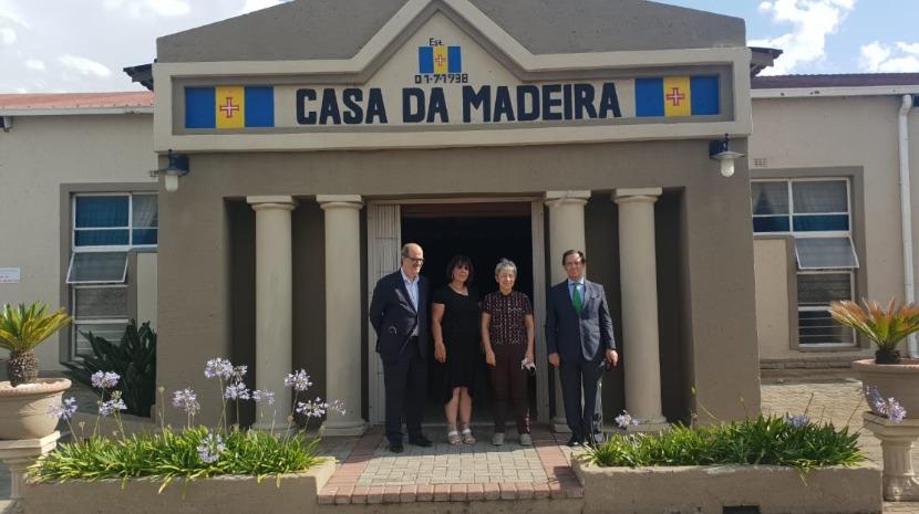 Berta Nunes visitou a Casa da Madeira em Joanesburgo