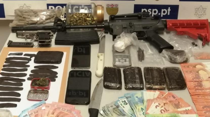 PSP deteve dois homens por tráfico de estupefacientes no Funchal