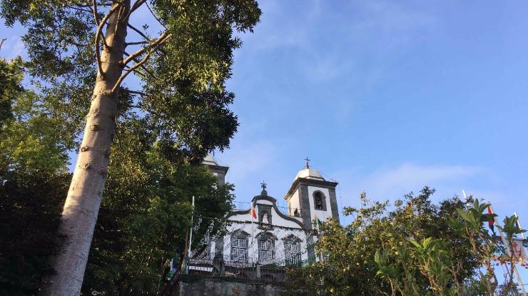Fernanda Cardoso na missa de Nossa Senhora do Monte