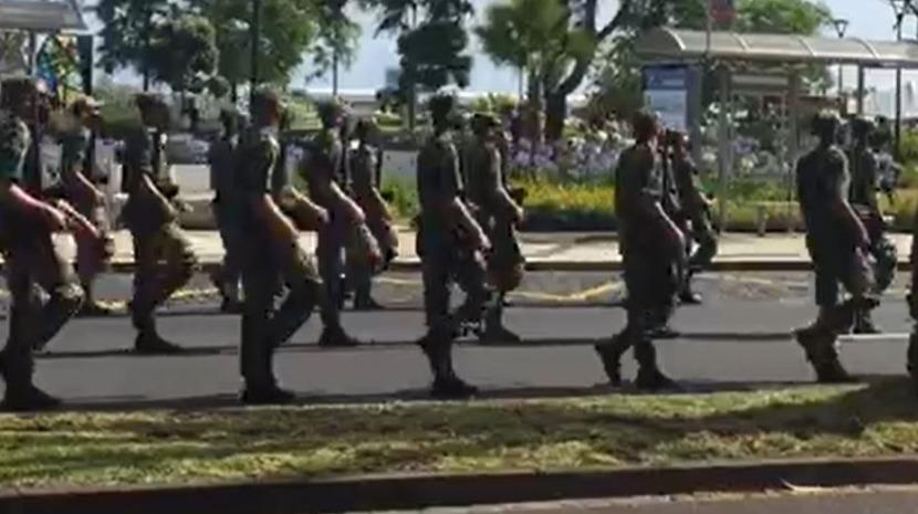 Militares 'ensaiam' para as cerimónias do 10 de junho no Funchal (com vídeo)