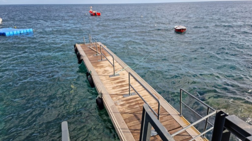Ribeira Brava voltou a instalar plataforma de acesso ao Calhau da Lapa