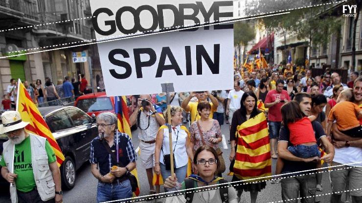 Manifestação junta um milhão em Barcelona contra a independência da Catalunha