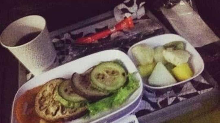 Passageira chocada com refeição vegetariana servida em voo da TAP
