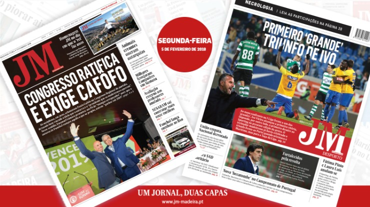 JM-Edição Impressa: Congresso ratifica e exige Cafôfo - Desporto: Primeiro 'grande' triunfo de Ivo  [treinador do Estoril]