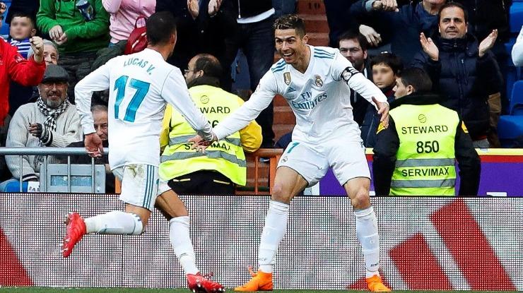 Real Madrid goleou com 'bis' de Cristiano Ronaldo