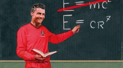 Quarenta caricaturas sobre Cristiano Ronaldo nas Caldas da Rainha