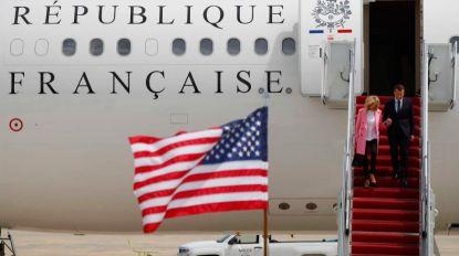 Macron chega aos EUA para iniciar visita de Estado e reuniões com Trump