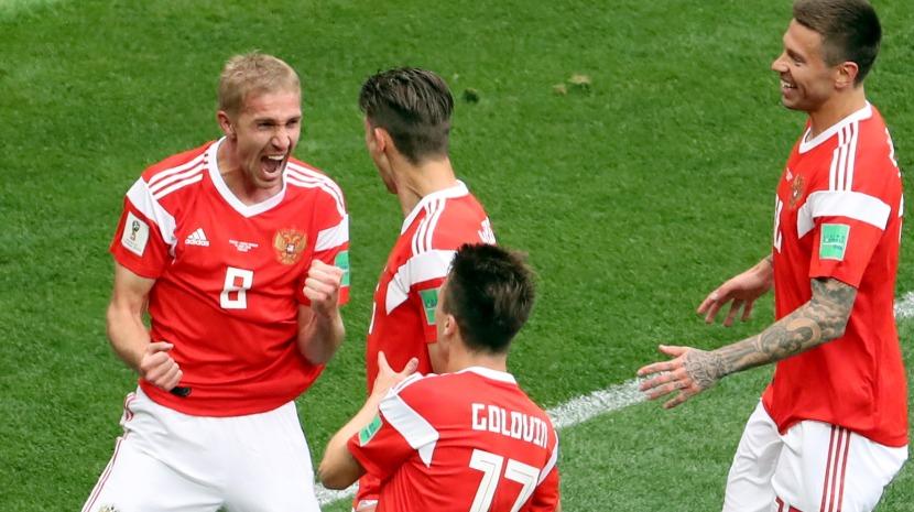 Rússia goleia Arábia Saudita no jogo inaugural do Mundial2018