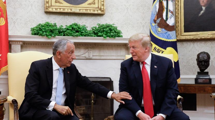 Marcelo e Trump juntos na Casa Branca