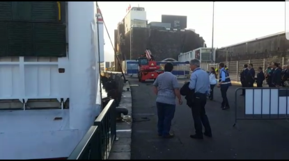 Vídeo mostra ferry a atracar no porto do Funchal