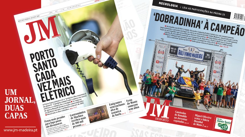JM-Edição Impressa: Porto Santo cada vez mais elétrico - Desporto: Alexandre Camacho/Pedro Calado com 'dobradinha' à campeão