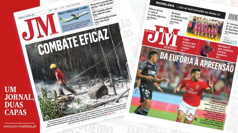 JM - Edição impressa:  Combate eficaz aos incêndios  - Desporto: Benfica passa da euforia à apreensão