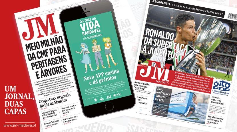 JM - Edição Impressa: Meio milhão da CMF para peritagens a árvores - Desporto: Ronaldo dá Supertaça à Juventus