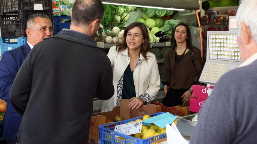 Sara Cerdas no Mercado da Penteada