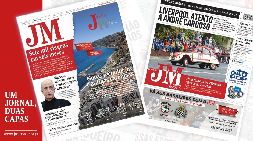 JM - Edição impressa: Estudantes realizaram sete mil viagens em seis meses - Desporto: Liverpool atento ao madeirense André Cardoso