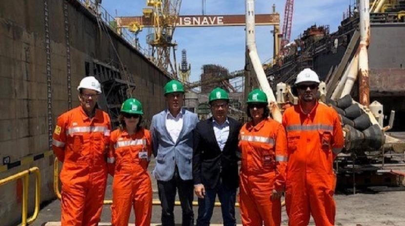 Presidente da SDM visitou navio da Saipem Portugal