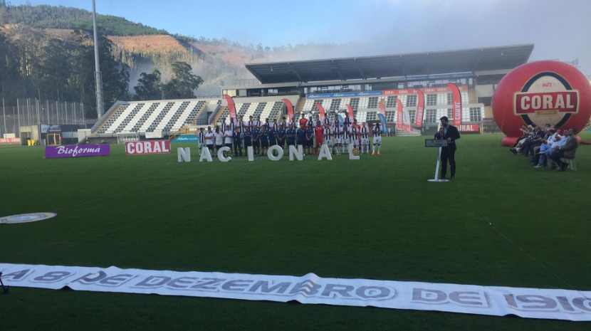 Nacional apresenta plantel com subida 'na mira'