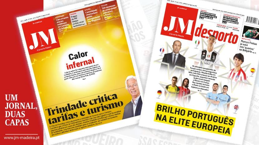 JM - Edição Impressa: António Trindade critica tarifas e turismo - Desporto: Brilho português na elite europeia