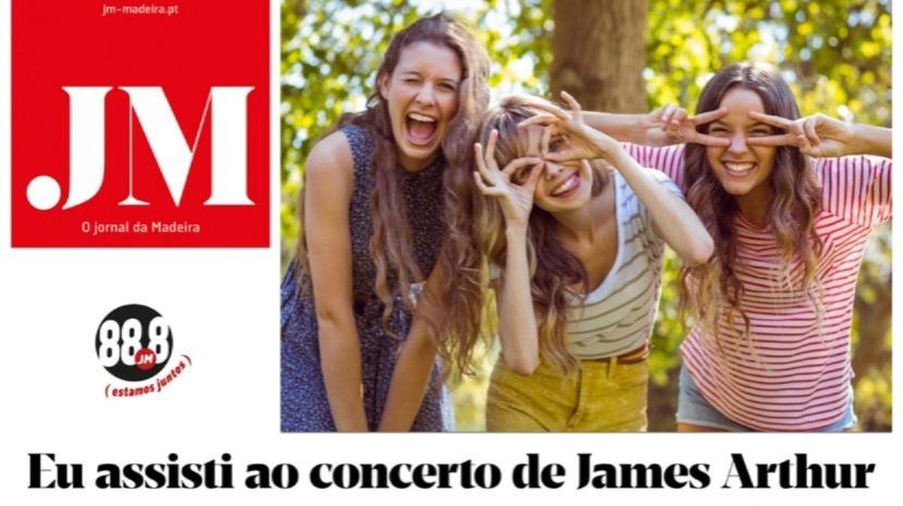Encontrou o JM no concerto de James Arthur? A partir das 12 horas, concorra para duas viagens a Lisboa