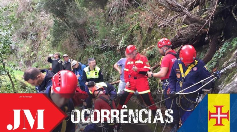 Mulher ferida em vereda no Porto Moniz
