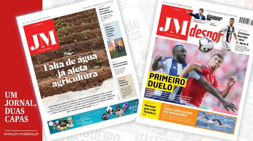 JM – Edição impressa: Falta de água já afeta agricultura – Desporto: Benfica e Porto no primeiro duelo
