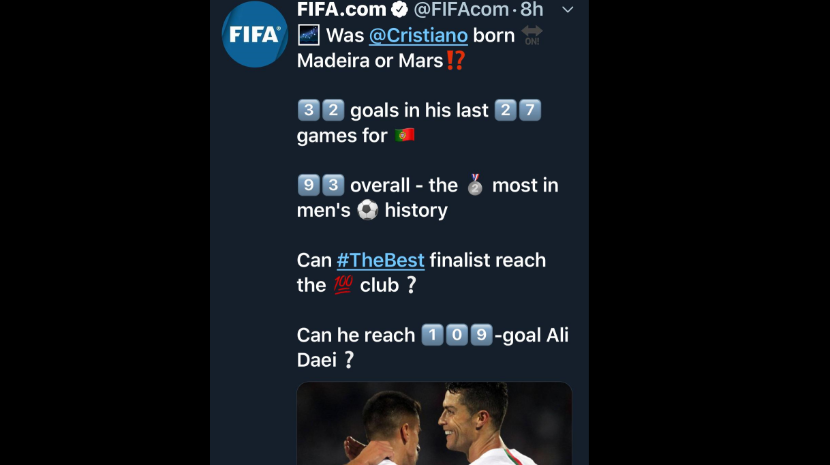 Cristiano Ronaldo nasceu na Madeira ou em Marte?