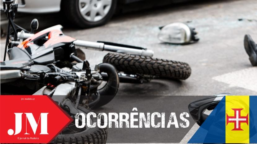 Mais um acidente de mota na Calheta