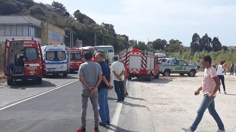Colisão na Malveira causa 11 feridos