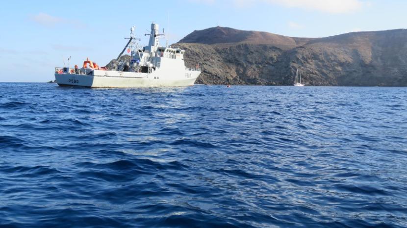 NRP Tejo em missão de patrulhamento nas Ilhas Selvagens