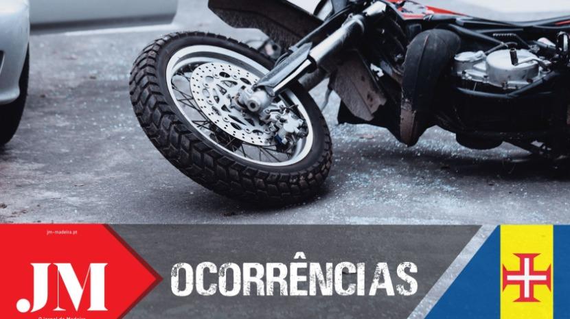 Despiste de mota deixa mulher ferida no Funchal