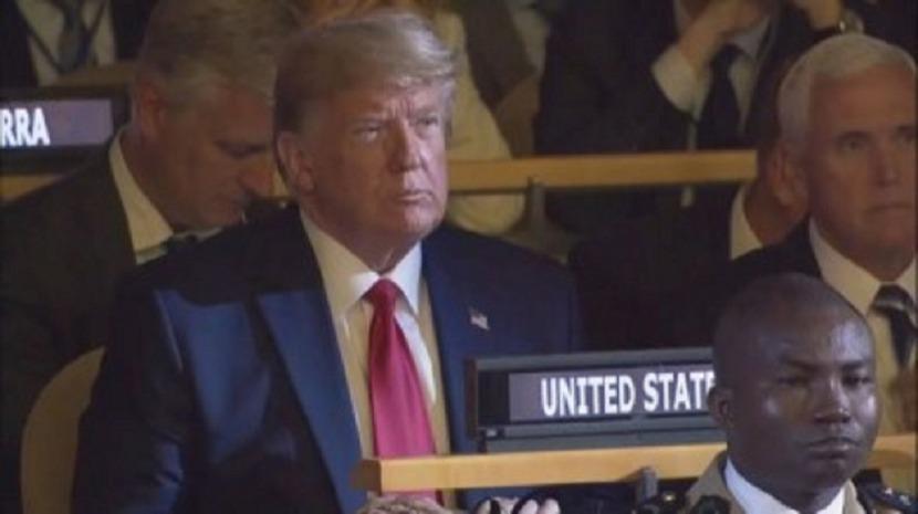 Trump fez aparição surpresa na cimeira da Nações Unidas, mas sem intervir