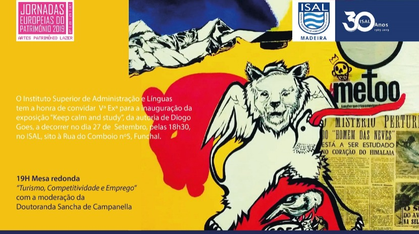Diogo Goes inaugura mostra no ISAL a 27 de setembro