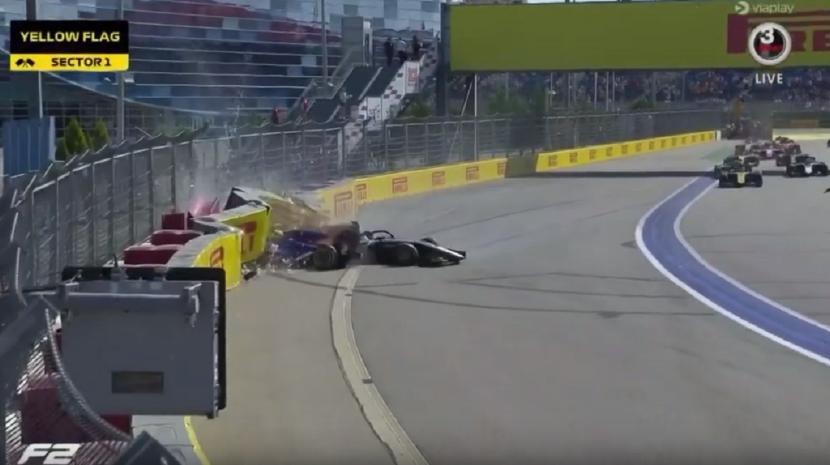 Pilotos de Fórmula 2 protagonizam violento acidente no GP da Rússia (Com vídeo)