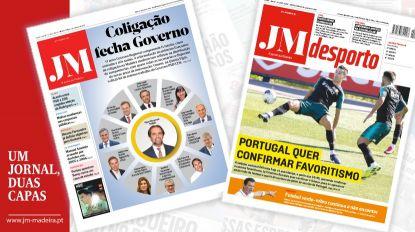 JM - Edição impressa: Coligação fecha Governo - Desporto: Portugal quer confirmar favoritismo