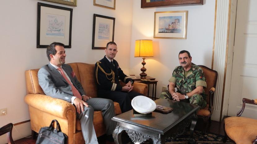 Comandante da ZMM recebeu Adido de Defesa de França