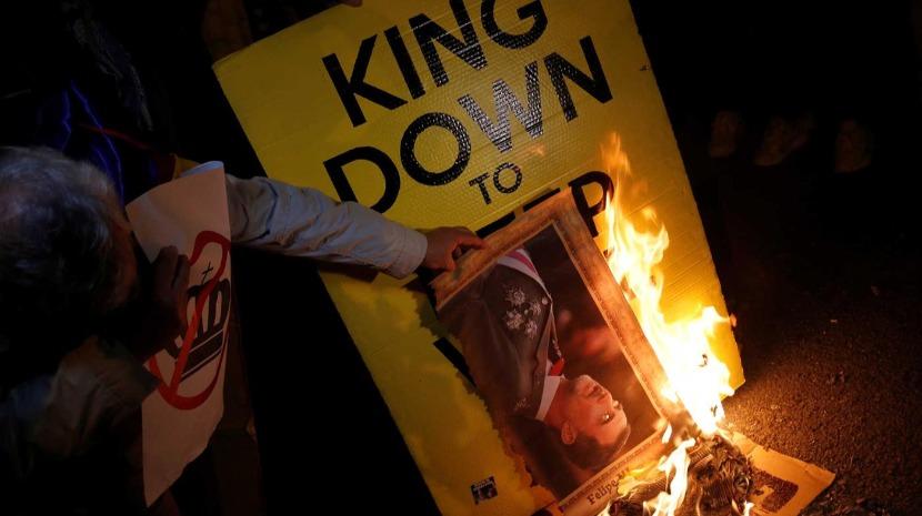 Catalunha: Milhares de independentistas protestam contra visita do Rei Felipe VI