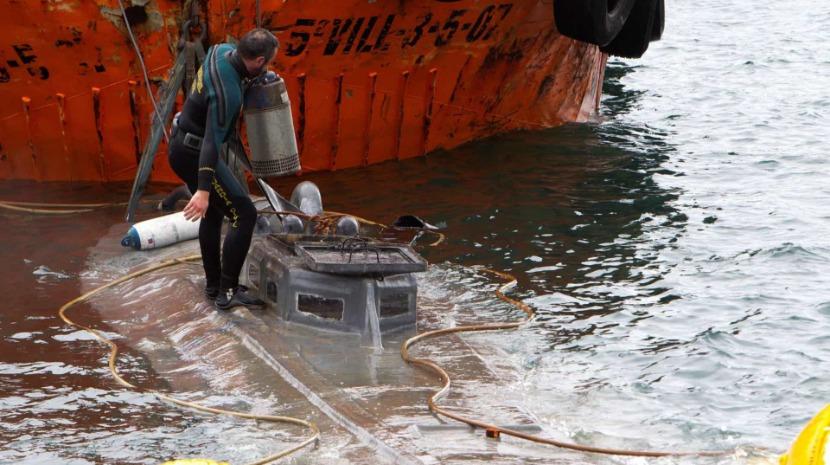 Submarino interceptado na Galiza transportava três toneladas de cocaína