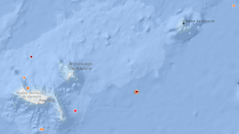 Sismo esta madrugada ao largo do Porto Santo