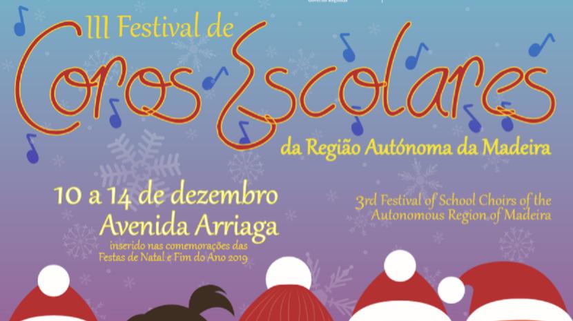 III Festival de Coros Escolares da Madeira realiza-se entre 10 e 14 de dezembro