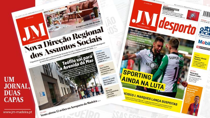 JM – Edição Impressa: Nova Direção Regional dos Assuntos Sociais – Desporto: Sporting ainda na luta