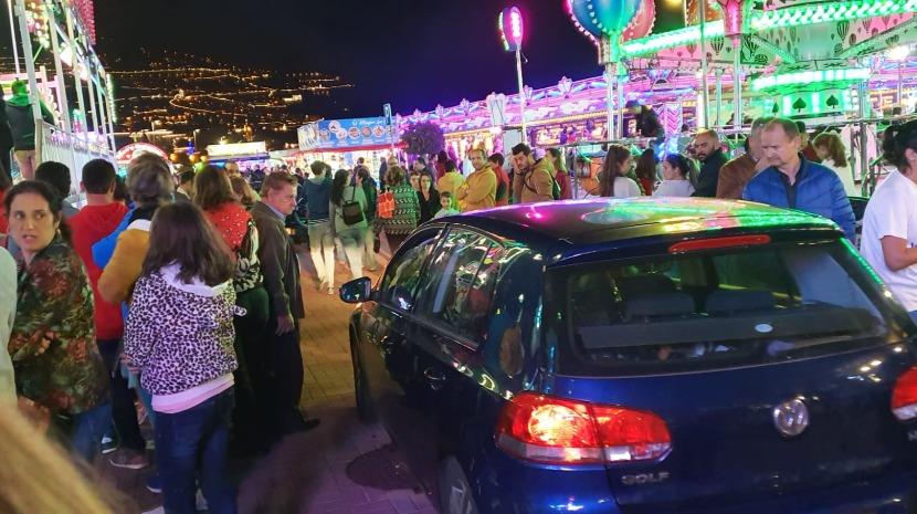 Viatura entra no Parque de Diversões  do Funchal e assusta visitantes