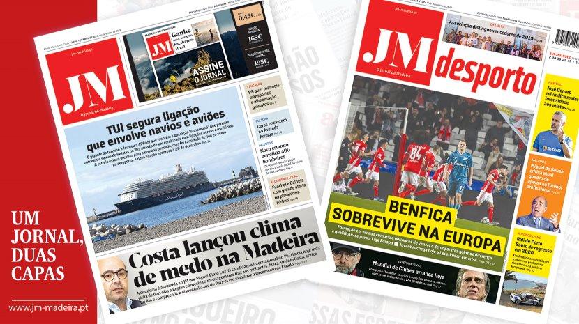 JM - Edição Impressa: Costa lançou clima de medo na Madeira - Desporto: Benfica sobrevive na Europa
