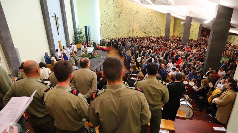Militares abrilhantaram primeira Missa do Parto na Nazaré (com vídeo)