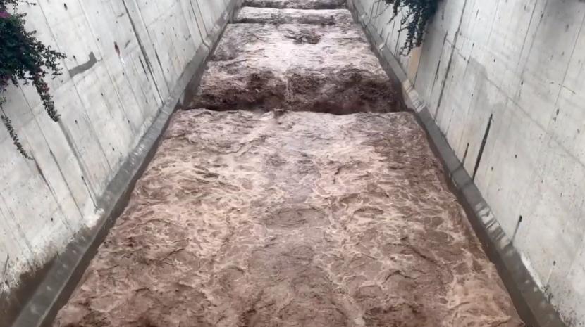 Chuva aumenta volume dos caudais nas ribeiras do Funchal (com vídeo)