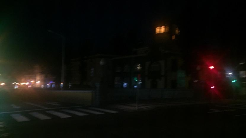 Parte da cidade do Funchal às escuras