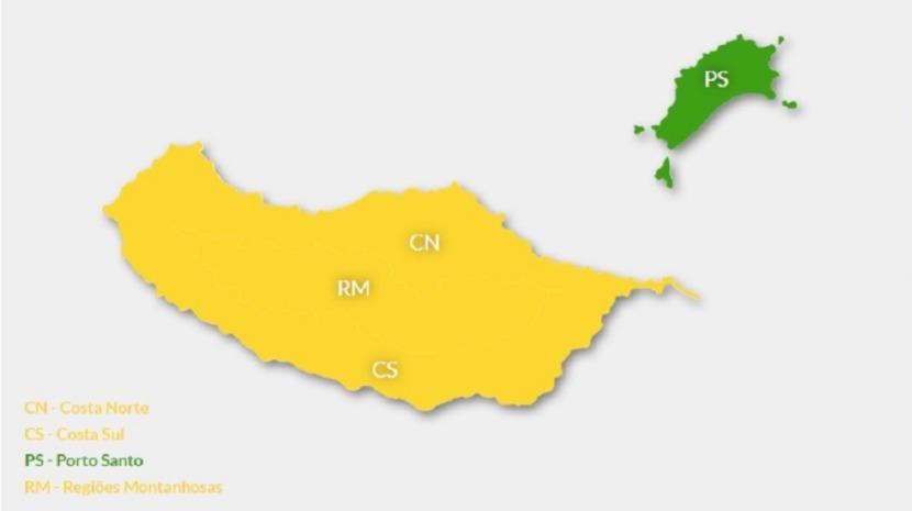 Madeira sob Aviso Amarelo devido às altas temperaturas
