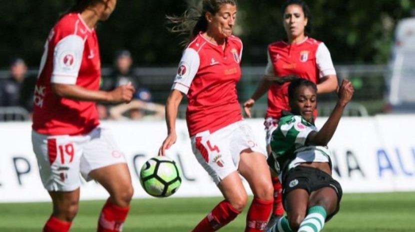 Futebol feminino do Sporting de Braga regressou hoje aos trabalhos